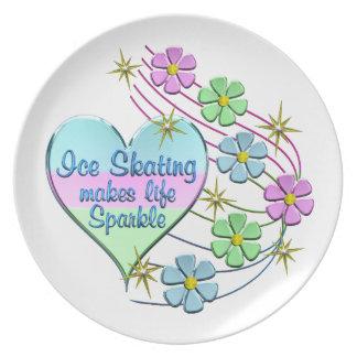 Ice Skating Sparkles Plate