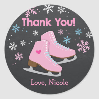 Ice Skating Stickers / Ice skating favor tags