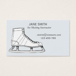 Ice Skating teacher freelance instructor Business Card