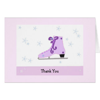 Ice Skating Thank You Card