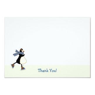 Ice Skating Thank You Notecard