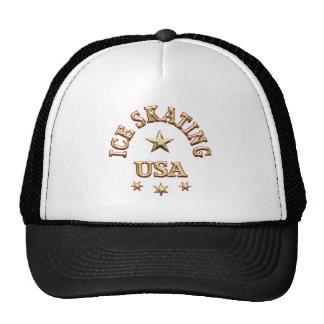 Ice Skating USA Trucker Hat