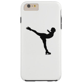 Ice Skating Woman Silhouette Tough iPhone 6 Plus Case