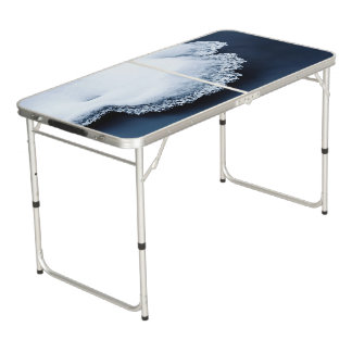 Ice, snow and moving water beer pong table