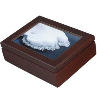 Ice, snow and moving water keepsake box