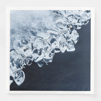 Ice, snow and moving water paper napkin