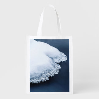 Ice, snow and moving water reusable grocery bag