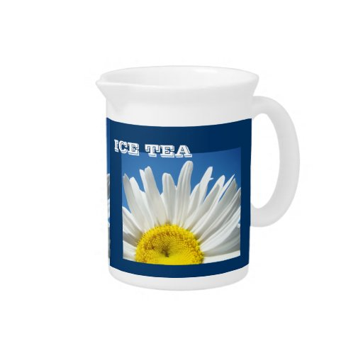ICE TEA pitchers White Daisy Flowers Floral