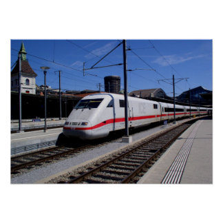 ICE train in Cologne Poster