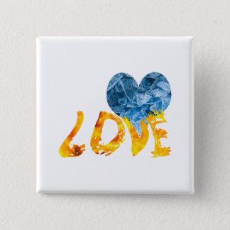 Ice - Warming Love 15 Cm Square Badge