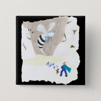 Ice Wasp Mountain 15 Cm Square Badge