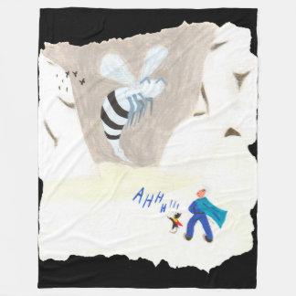Ice Wasp Mountain Fleece Blanket