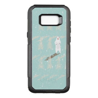 Icebear in snow forest OtterBox commuter samsung galaxy s8+ case