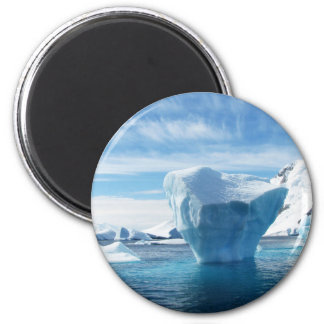 Iceberg Antarctica nature scenery 6 Cm Round Magnet
