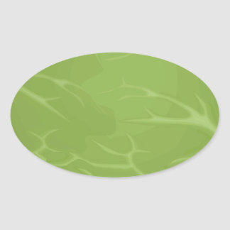 Iceberg Lettuce Oval Sticker