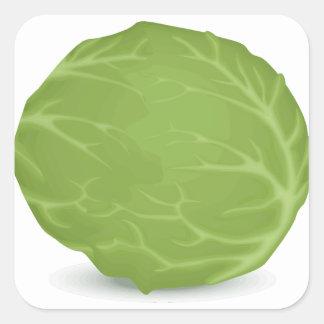 Iceberg Lettuce Square Sticker