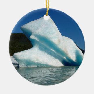 Iceberg on Mendenhall Lake in Alaska Ceramic Ornament