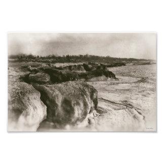 Icebergs Lake Michigan Shelf Ice Retro Inspired Photo Print