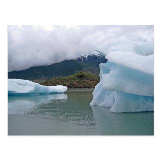Icebergs on Mendenhall Lake, Juneau Alaska Postcard