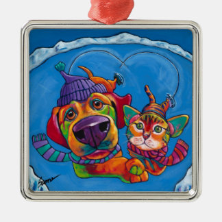 Icecapaws Holiday Ornament by Ron Burns