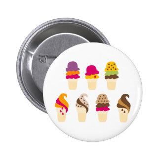 IceCream6 6 Cm Round Badge