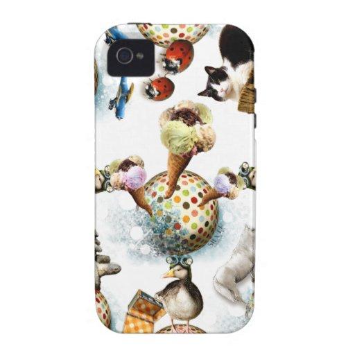 Icecream and Cute Animals iPhone 4/4S Cases