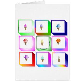 icecream boxes card