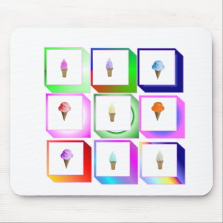 icecream boxes mouse pad
