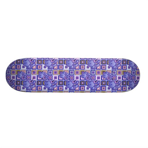 Icecream Bunny Pattern Skate Decks