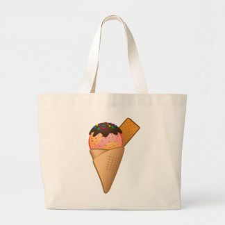Icecream Large Tote Bag