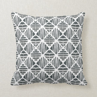 Iced coal pattern throw pillow
