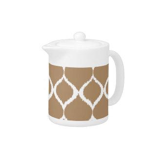 Iced Coffee Geometric Ikat Tribal Print Pattern