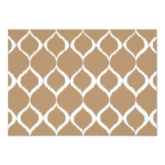 Iced Coffee Geometric Ikat Tribal Print Pattern Card