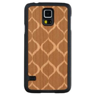 Iced Coffee Geometric Ikat Tribal Print Pattern Carved Cherry Galaxy S5 Case