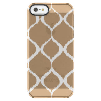 Iced Coffee Geometric Ikat Tribal Print Pattern Clear iPhone SE/5/5s Case