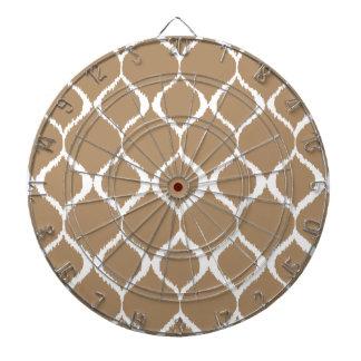 Iced Coffee Geometric Ikat Tribal Print Pattern Dartboard