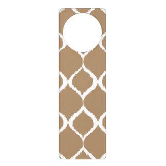 Iced Coffee Geometric Ikat Tribal Print Pattern Door Hanger