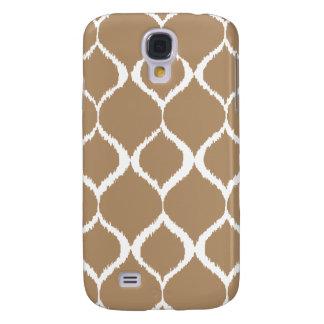 Iced Coffee Geometric Ikat Tribal Print Pattern Galaxy S4 Cover
