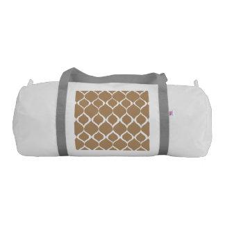 Iced Coffee Geometric Ikat Tribal Print Pattern Gym Bag