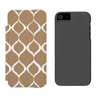 Iced Coffee Geometric Ikat Tribal Print Pattern Incipio Watson™ iPhone 5 Wallet Case