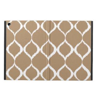 Iced Coffee Geometric Ikat Tribal Print Pattern iPad Air Cover