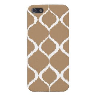 Iced Coffee Geometric Ikat Tribal Print Pattern iPhone 5 Case