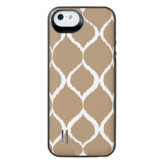 Iced Coffee Geometric Ikat Tribal Print Pattern iPhone SE/5/5s Battery Case