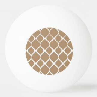 Iced Coffee Geometric Ikat Tribal Print Pattern Ping Pong Ball