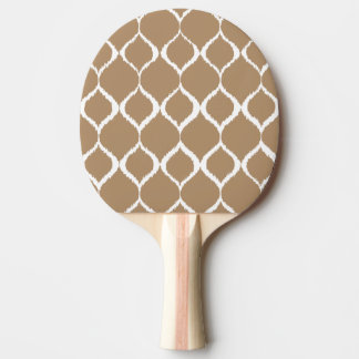 Iced Coffee Geometric Ikat Tribal Print Pattern Ping Pong Paddle