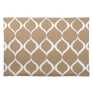 Iced Coffee Geometric Ikat Tribal Print Pattern Placemat