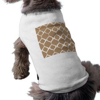 Iced Coffee Geometric Ikat Tribal Print Pattern Shirt