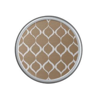 Iced Coffee Geometric Ikat Tribal Print Pattern Speaker