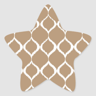 Iced Coffee Geometric Ikat Tribal Print Pattern Star Sticker