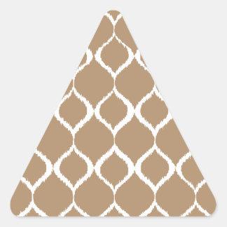 Iced Coffee Geometric Ikat Tribal Print Pattern Triangle Sticker